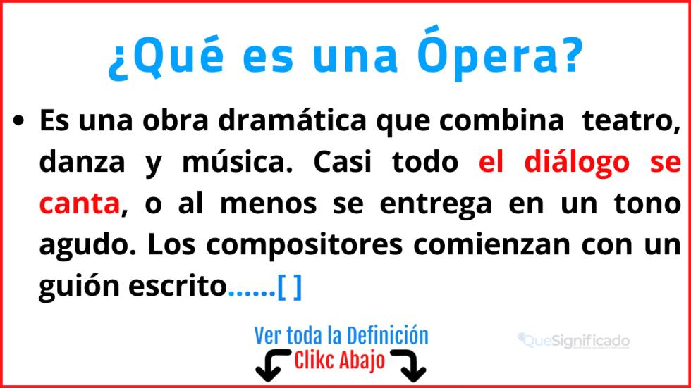 Qué es una Ópera
