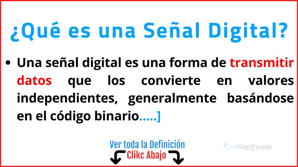 Qué es una Señal Digital