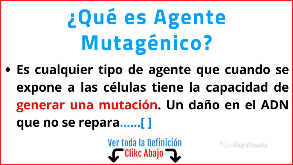 Qué es Agente Mutagénico