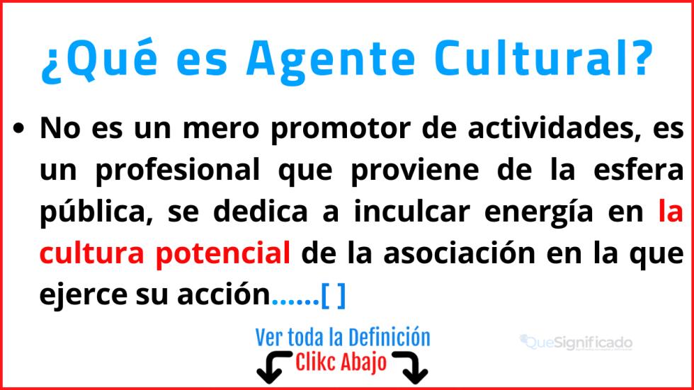 Qué es Agente cultural