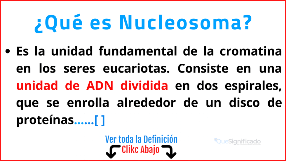 Qué es Nucleosoma