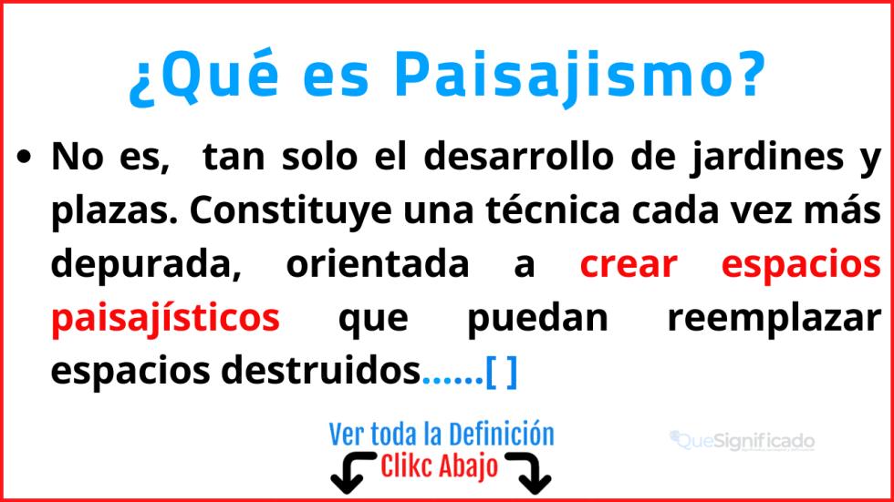 Qué es Paisajismo