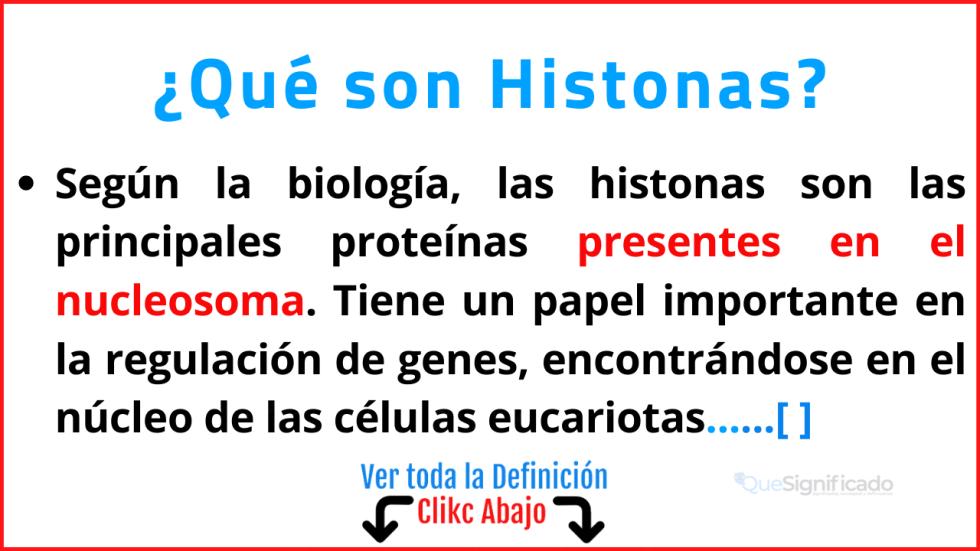 Qué son Histonas