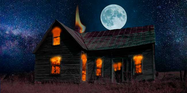 Soñar que se quema una casa