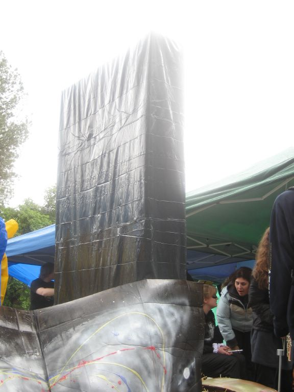 """My depiction of the monolith from """"2001: A Space Odyssey"""" on display during the 2007 Picnic Day at UC Davis."""