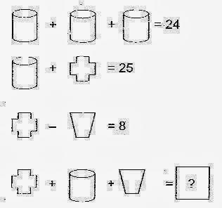 IQ test question: Solve the math equation that you can see