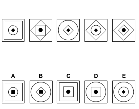 IQ test question: Decide which figure should be the next one.