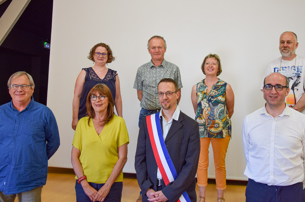 Boris Lemaire avec ses adjoints