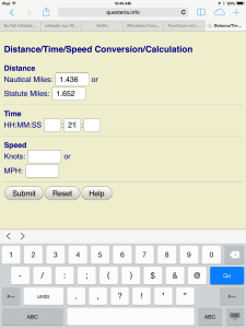 Calculate Speed for 21 Minutes
