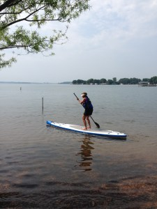 Fran on Paddle Board