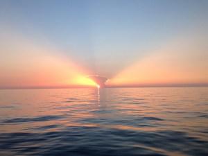 Sunset at Bahamas Bank