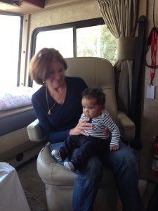 Fran and Johnny in the RV