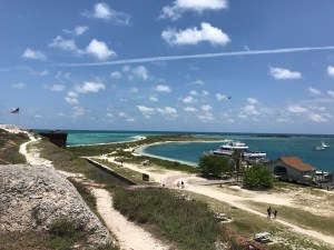 View of Bush Key From Atop Fort Jefferson