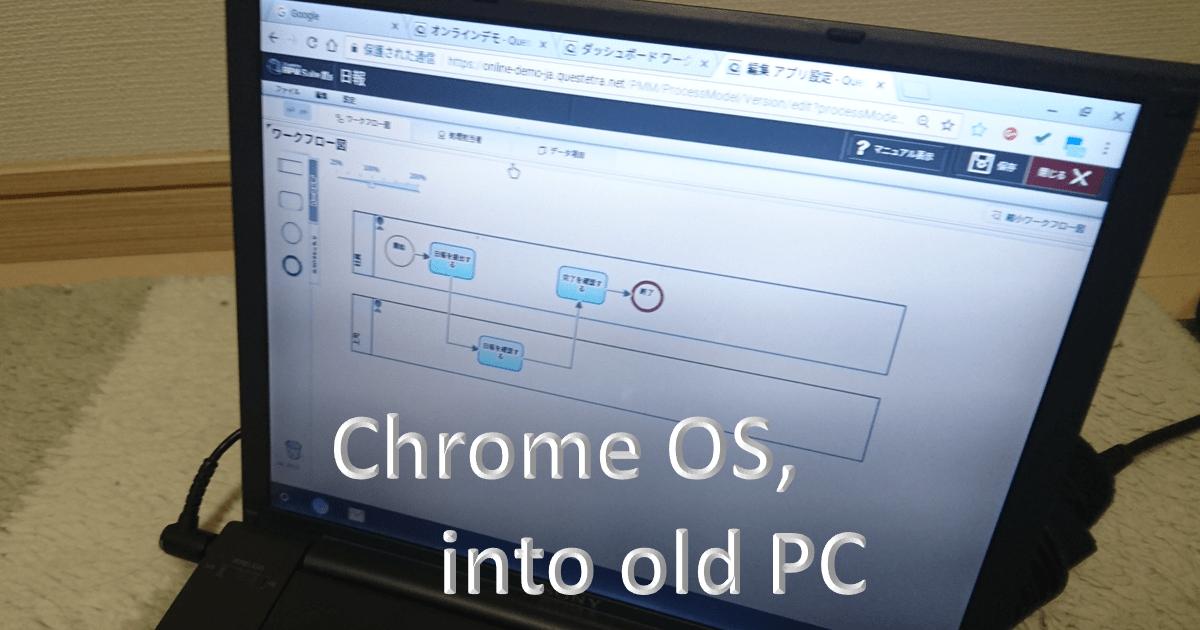 中古PCを Chromebook として再生させる – QUESTETRA BPM SUITE