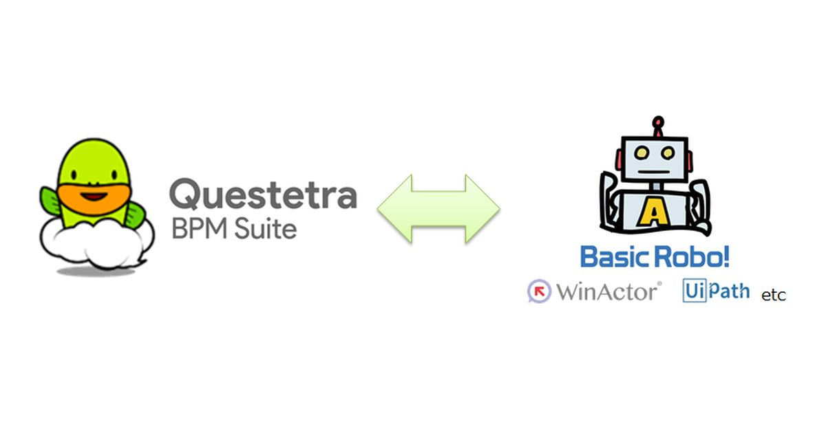 Collaboration between BPM Workflow and RPA Tool – QUESTETRA