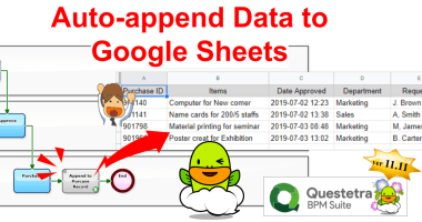 Cloud BPM v11.11 Auto-Append to Google Sheets with Our New Service Task