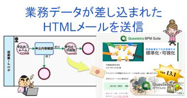 クエステトラ:クラウド型ワークフローv13.1、HTMLメールの送信が可能に