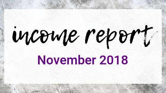 November 2018 Income Report