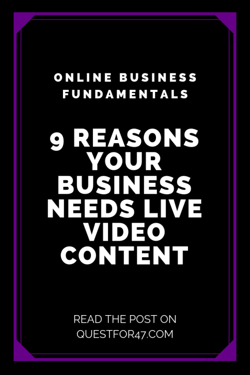 9 Reasons Your Audience Needs Live Video Content on Quest for $47 Pinterest