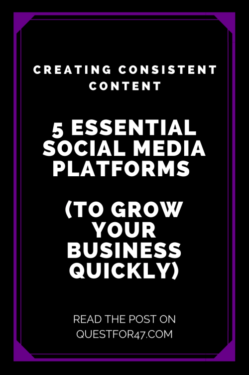 5 Essential Social Media Platforms (To Grow Your Business Quickly) on Quest for $47 Pinterest