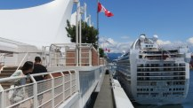 Cruise ship docked at Canada Place