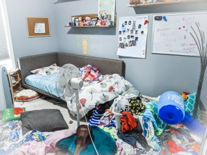Does your child's room look like this? What do you do in order to get it all organized?