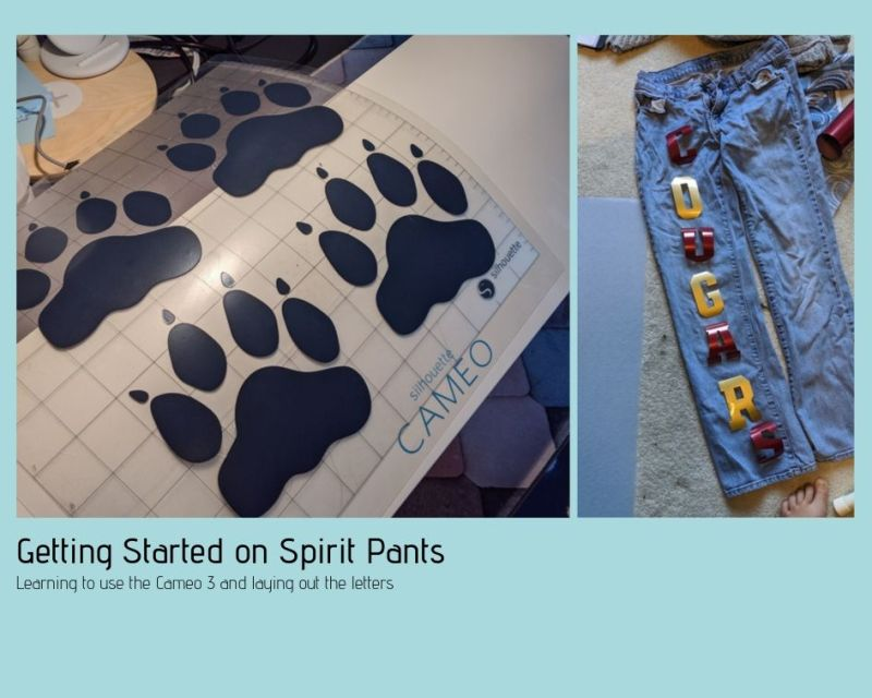 Starting off with the Cameo 3. Printing the letters and the paw prints