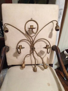 Vintage wall candle sconce