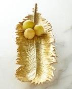 Michael Aram Sago Palm Leaf Bread Plate