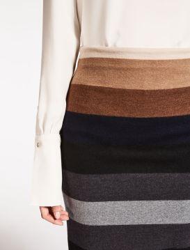 Max Mara . Striped Skirt . $595.