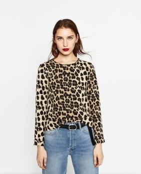 Zara . Leopard Print Shirt $39.