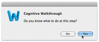 "dialog box asking ""do you know what to do at this step?"""