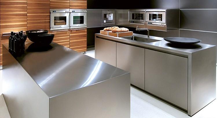 Piano lavoro cucina acciaio inox  Questioni di Arredamento