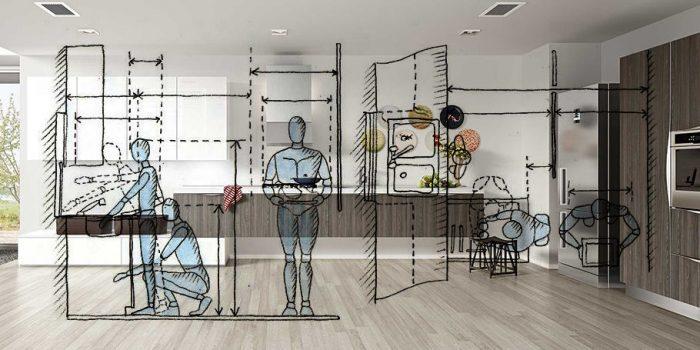 Cucina ergonomica e funzionale.