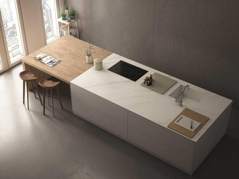 Piano cucina in gres porcellanato questioni di arredamento - Top cucina in cemento ...