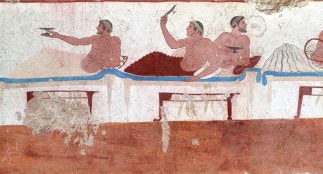 Affresco-della-Tomba-del-Tuffatore-Paestum-con-scena-di-banchetto.-e1484499985637