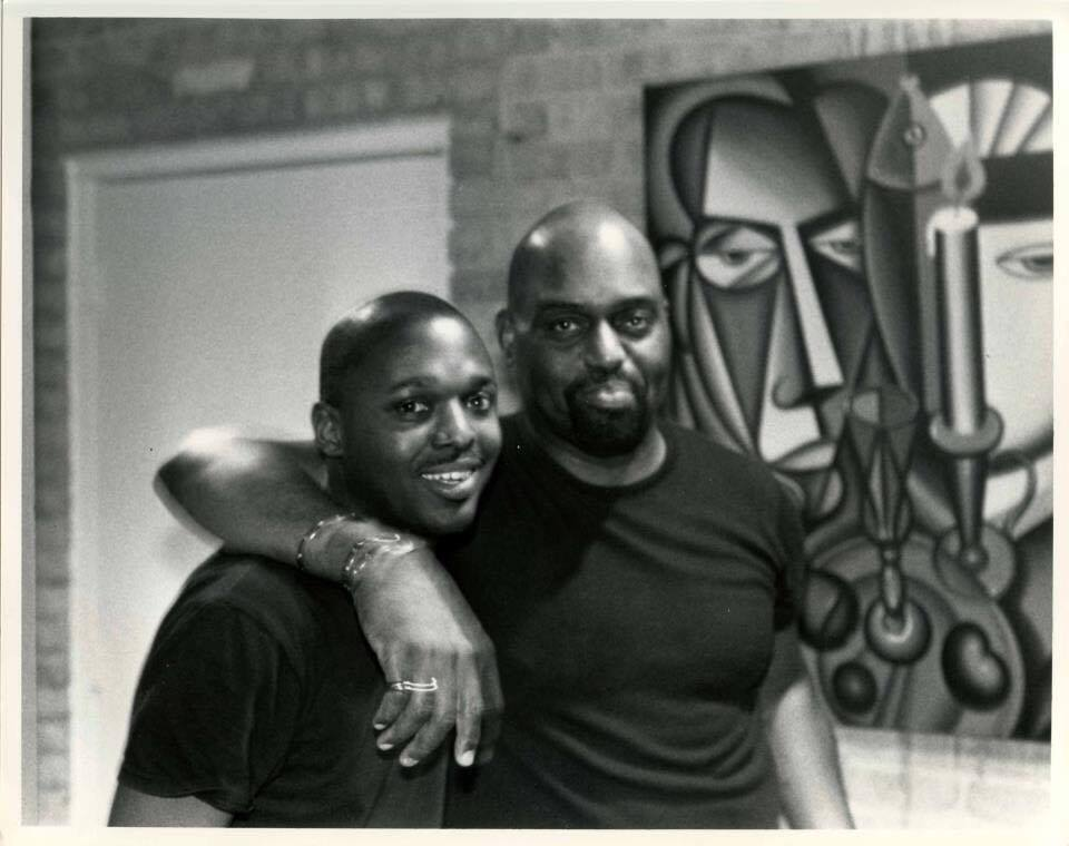 Elbert Phillips and Frankie Knuckles