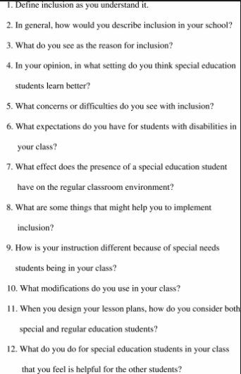 special education interview questions