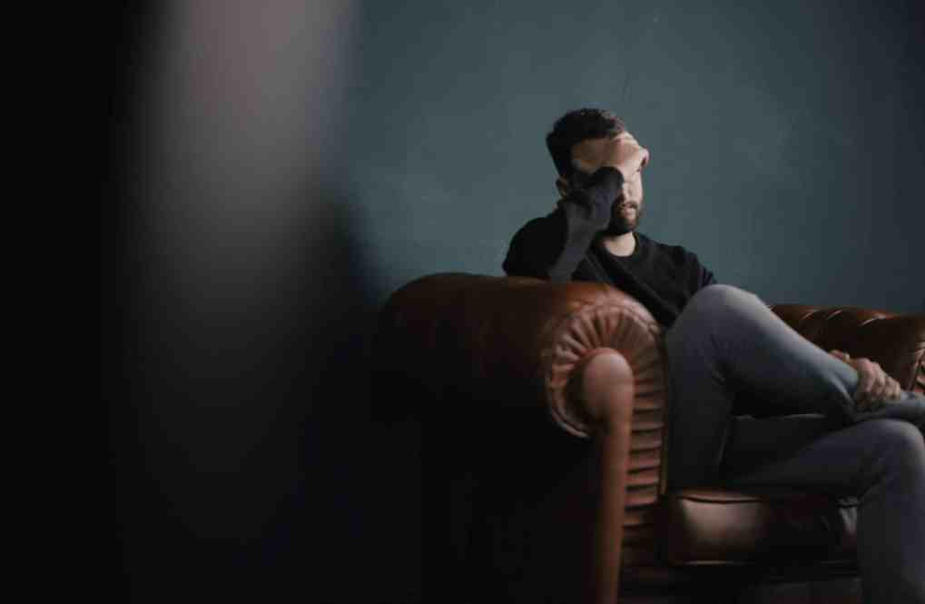 Man having counselling for depression