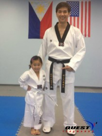 white belt with Master Vargas