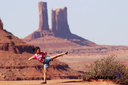 Iraia Carnaje at Monument Valley in AZ