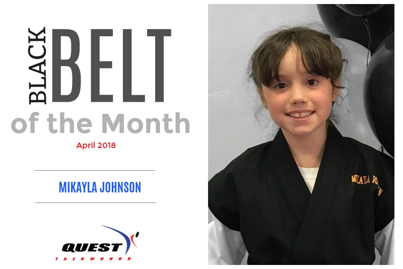Black Belt of the Month: Mikayla Johnson