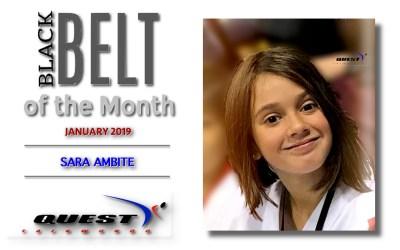 Black Belt of the Month: Sara Ambite