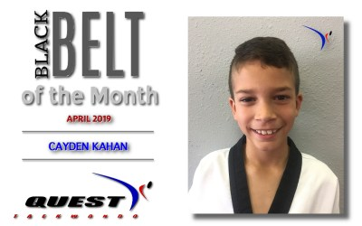 Black Belt of the Month: Cayden Kahan