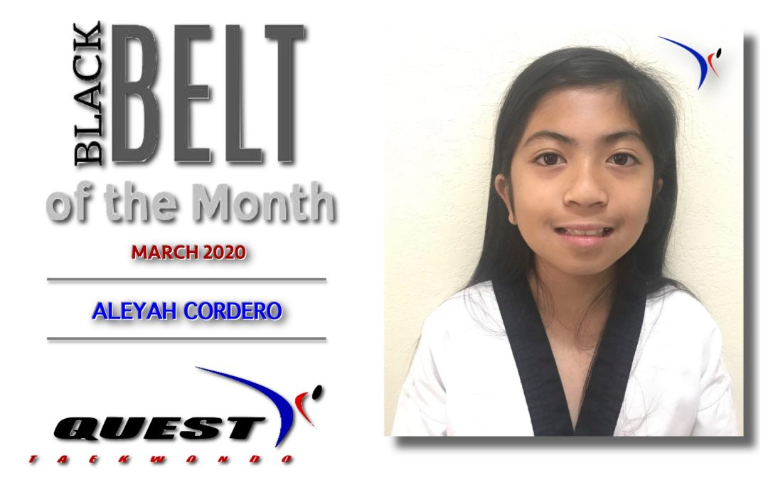 Black Belt of the Month: Aleyah Cordero