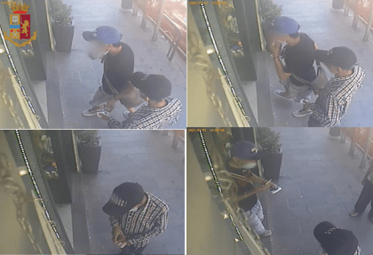 LA SPEZIA STATE POLICE ATTEMPTED TO PURCHASE WITH STOLEN CREDIT CARDS: IDENTIFIED AND REPORTED