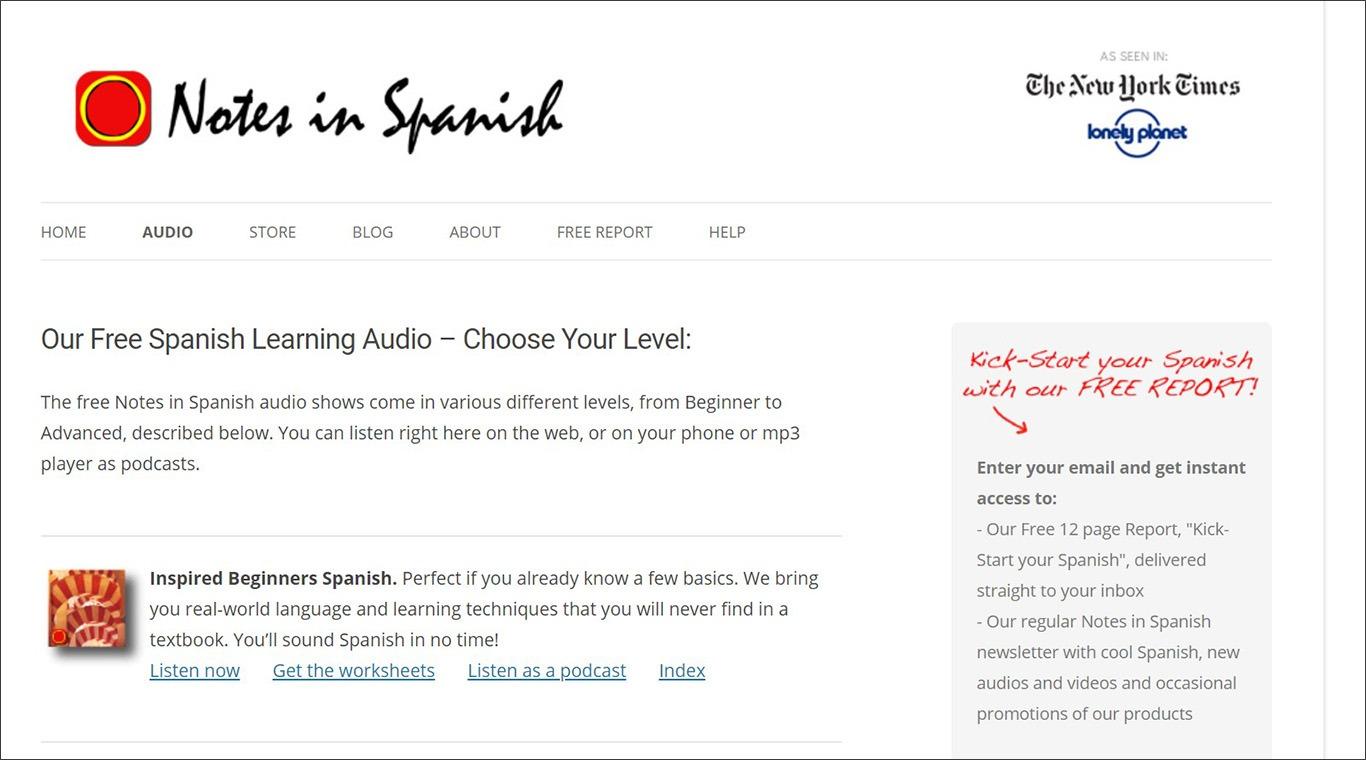 Подкаст для вивчення іспанської Notes in Spanish