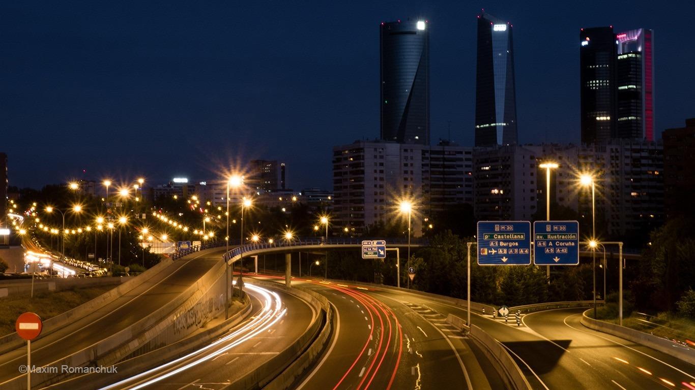 Нічний Мадрид (Фото: Максим Романчук)
