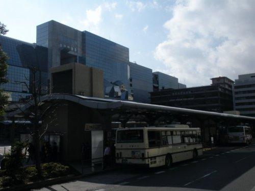Parada de autobuses frente a la Estación de Kioto, cómo moverse por Kioto