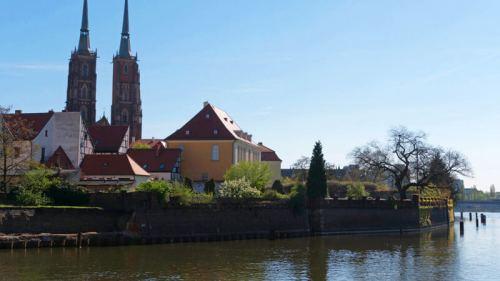 Isla de la Catedral, lugar de fundación de Breslavia